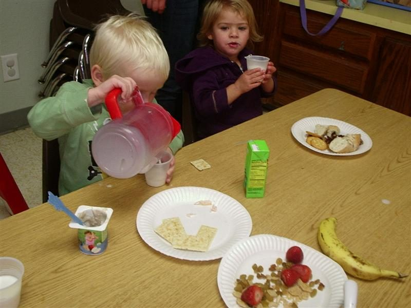 Lunch Time At Preschool Preschool Child Care Center Day